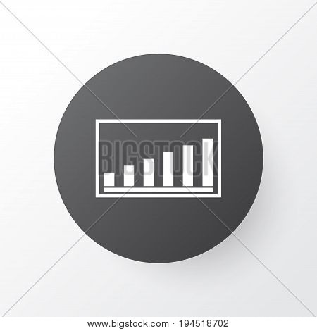 Project Presentation Icon Symbol. Premium Quality Isolated Company Statistics Element In Trendy Style.