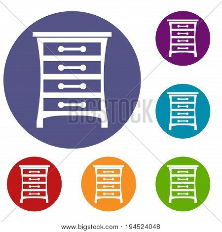 Chest of drawers in simple style isolated on white background vector illustration