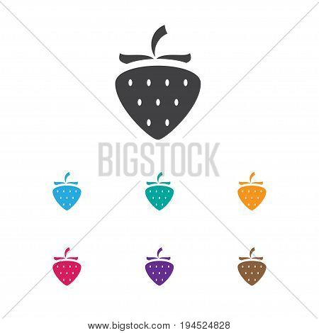 Vector Illustration Of Business Symbol On Berry Icon. Premium Quality Isolated Strawberry Element In Trendy Flat Style.