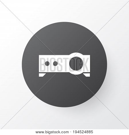 Projector Icon Symbol. Premium Quality Isolated Presentation Element In Trendy Style.