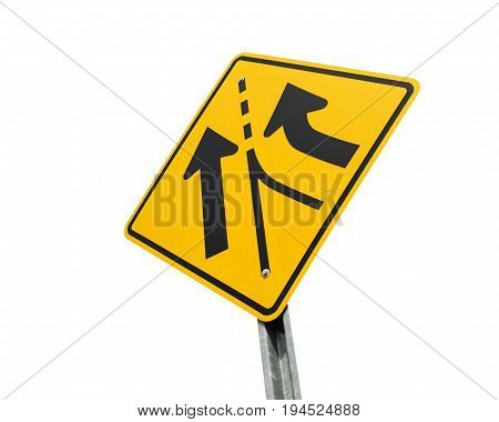 isolated merge sign on white background for design