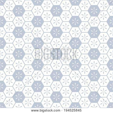 Seamless hexagons pattern. Hexagonal cells texture. Vector art.