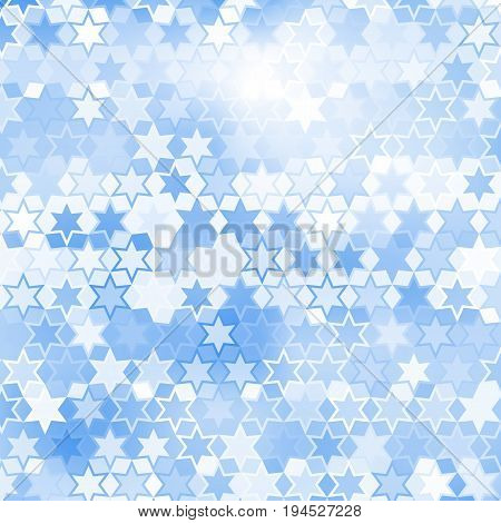 Blue star pattern abstract style for web illustration