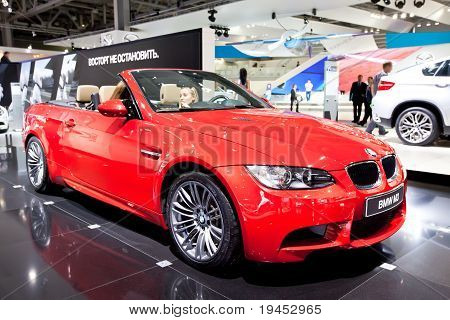 Moscow, Russia - August 25: Red Car Bmw M3 At Moscow International Exhibition Interauto On August 25