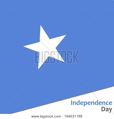 Somalia independence day with flag vector illustration for web