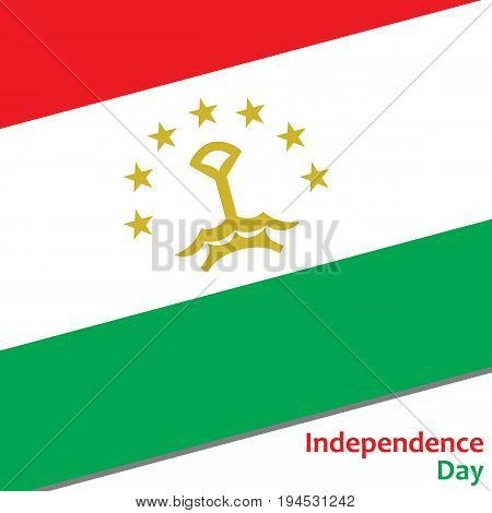 Tajikistan independence day with flag vector illustration for web