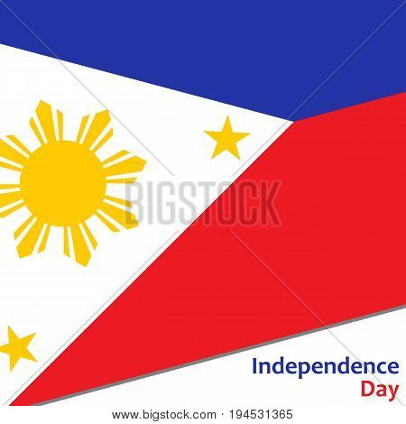 Philippines independence day with flag vector illustration for web