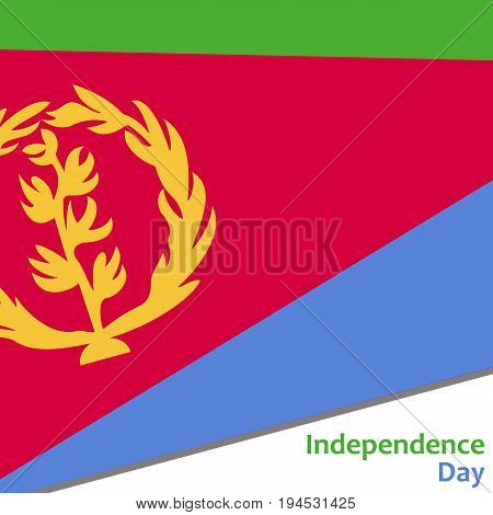 Eritrea independence day with flag vector illustration for web