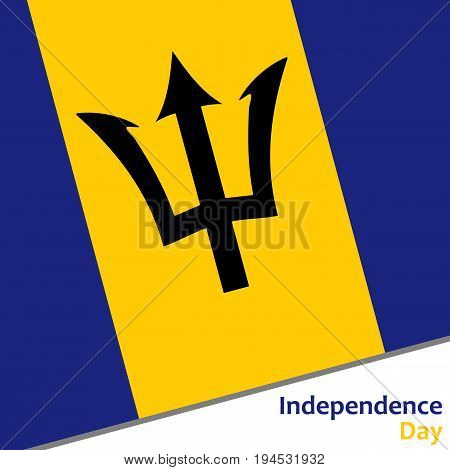 Barbados independence day with flag vector illustration for web