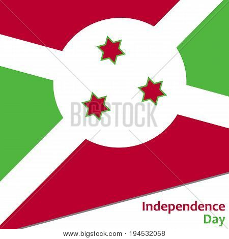 Burundi independence day with flag vector illustration for web