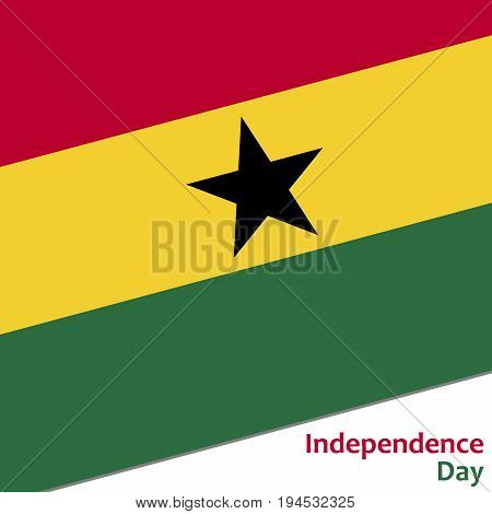 Ghana independence day with flag vector illustration for web