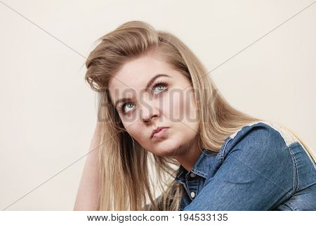 Woman Being Skeptical Questioning Something