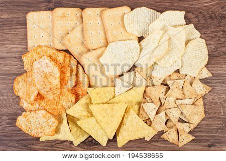 Salted Crisps And Cookies, Concept Of Unhealthy Food