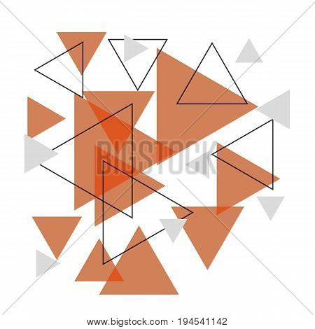 Abstract orange triangle banner background, stock vector