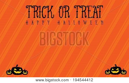 Background trick or treat Halloween vector illustration