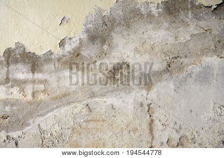 Grungy concrete wall. Old and deteriorate concrete wall. Grungy texture background.