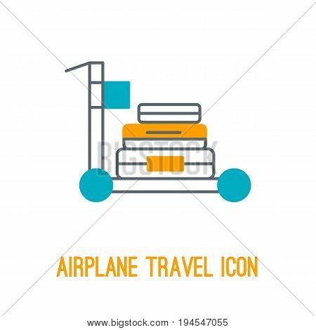 Vector illustration of comfort airplane travel in thin line style with isolated airplane concepts for comfort travelling. Outlined icons