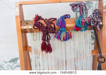 Carpet Of  Traditional Types On A Loom