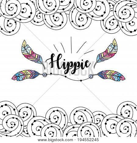 hippie icon design over white background, vector illustration