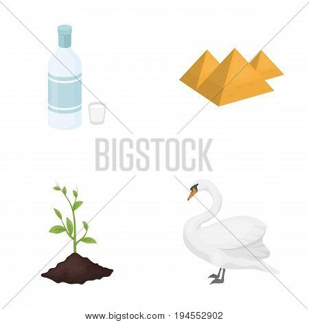 ecology, flora, fauna, and other  icon in cartoon style., bird, proud rare icons in set collection