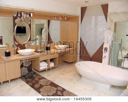 Modern bathroom in a hotel