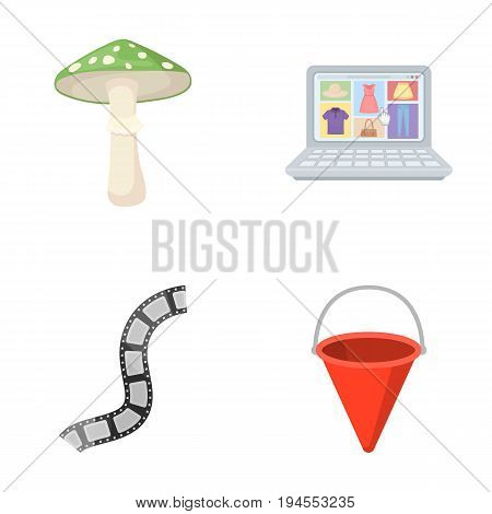 business, profession, nature and other  icon in cartoon style.attribute, fire, extinction, icons in set collection