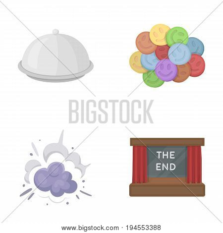 rest, ovation, business and other  icon in cartoon style., restaurant, theater, celebration icons in set collection