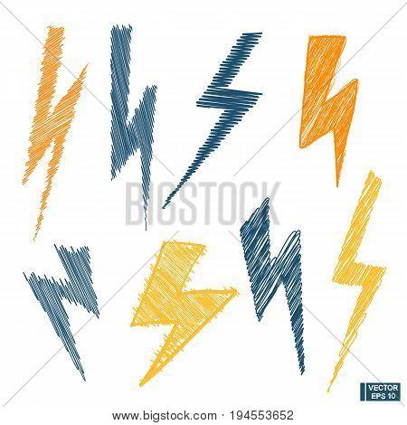 Set Of Lightning Icon