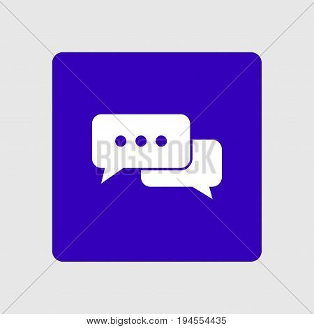 Icon of dialog vector illustration. Flat design style.