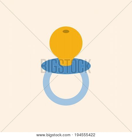 simple baby soother in flat design icon