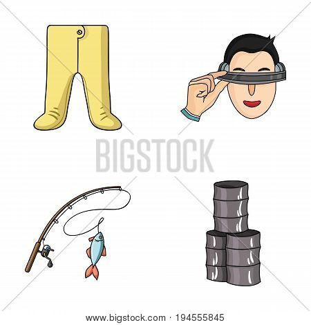 clothing, fishing and other  icon in cartoon style.technology, oil icons in set collection.