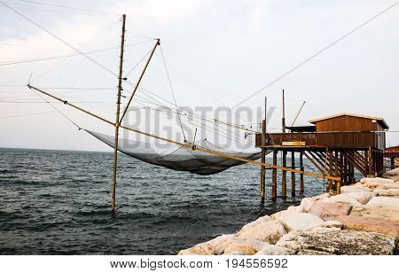 Fishing Net In North Italy
