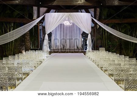 Beautiful photo of the Jewish Hupa wedding outdoor .