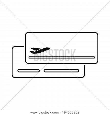 Plane Ticket Icon Flat Style Simple Vector Illustration. Boarding Pass