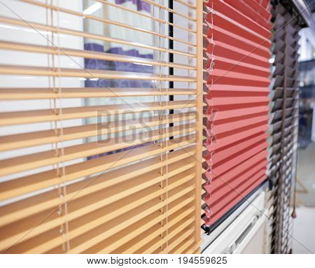 Modern blinds for home and office in shop