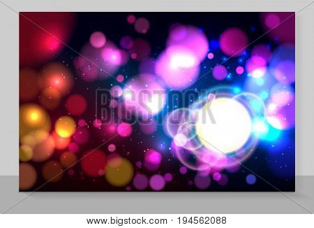 Cover copybook with abstract bokeh background.