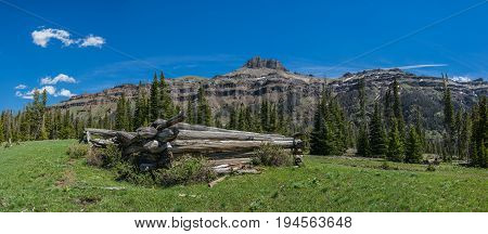 Log Cabin In Western Wilderness