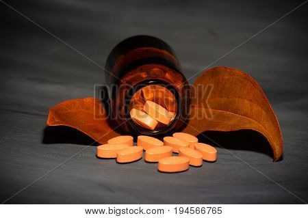 Pharmaceutical Dark Concept With Special Pills