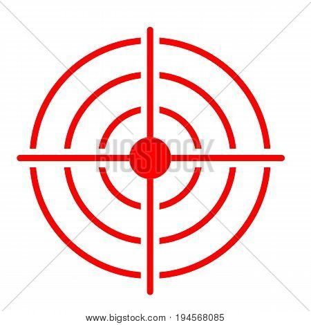 red target icon on white background. target icon sign.