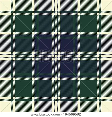 Check ornament plaid seamless pattern. Vector illustration.