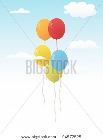 Balloons for party vector illustration art design