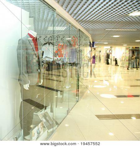 Corridor in a mall