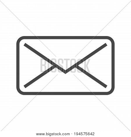 Mail Thin Line Vector Icon. Flat icon isolated on the white background. Editable EPS file. Vector illustration.