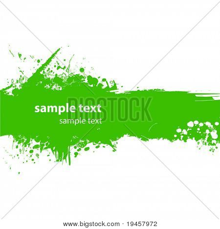 Green grungy banner with copy space