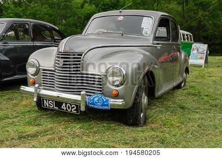 Llangollen Wales UK - July 1 2017: Jowett Javelin a classic British four door saloon car built from 1947 to 1953 at a vintage vehicle rally