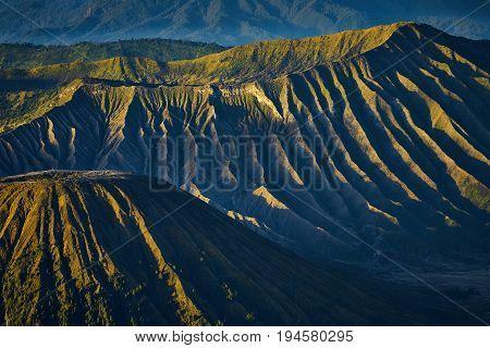 Beautiful Texture Of Mountain In Bromo Tengger Semeru National Park During Sunrise, Indonesia