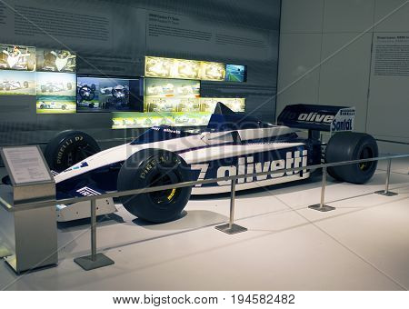 MUNICH GERMANY - JUNE 1 2012 : racing car at the exposition of BMW Museum