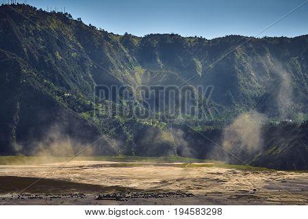 Landscape Of Bromo Tengger Semeru National Park From Top View
