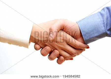Business people handshake after agreement or contract conclude