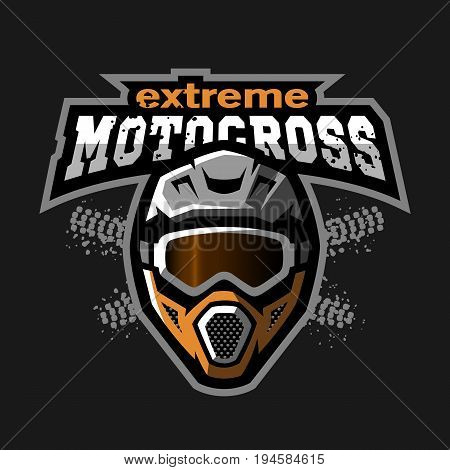 Extreme motocross logo, on a dark background.